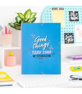 Carpeta separadora - Good things take time (and a lot of notes) MR. WONDERFUL