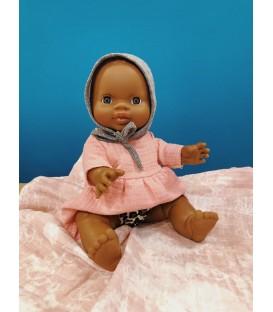 Petite fille d'Afrique aux yeux foncés MINIKANE