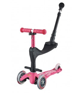 Patinete Mini 3en1 Deluxe + Rosa Chicle MICRO