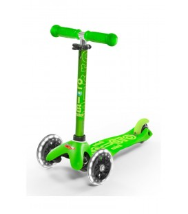 Patinete Mini Deluxe Verde Led MICRO