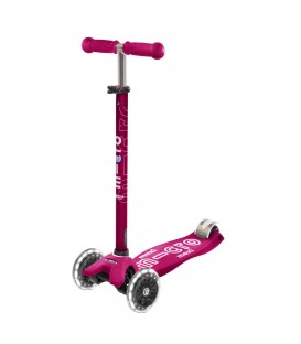 Patinete Maxi Deluxe LED Rosa MICRO