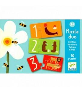Djeco Puzzle Dúo Números