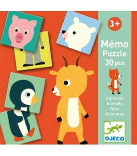 Djeco Educativos Memo Animo-Puzzle