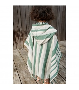 Poncho Rayas Verde/Azul/Arena LIEWOOD