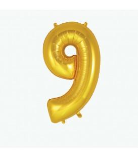 Globo Dorado Número 9 MY LITTLE DAY