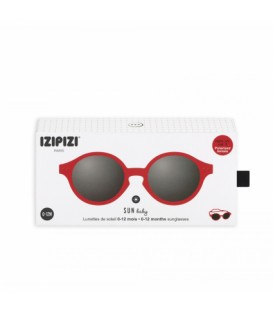 IZIPIZI Gafas de Sol 0-12M Red