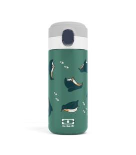 Botella Pop verde Pingüinos MONBENTO