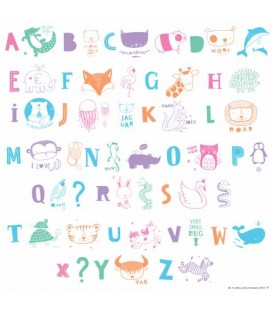 85 Letras y animales, Lightbox letter set