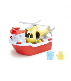 Barco y Helicóptero de Rescate GREEN TOYS