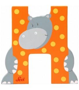 Letra H Hipopótamo SEVI