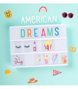 Set de Dibujos Para Caja de Luz Sueño Americano A Little Lovely Company