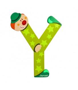 Janoz Letra Y Estilo Payaso color verde