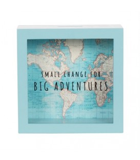 Hucha Grandes Aventuras Vintage Map SASS AND BELLE