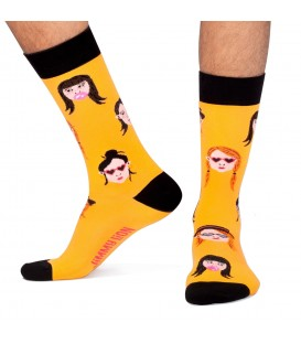 Calcetines Hipster Chica Amarillo Jimmy Lion