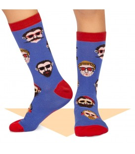 Calcetines Hipster Chico Azul Jimmy Lion