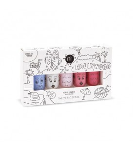 Pack 5 Esmaltes de Uñas Hollywood Nailmatic